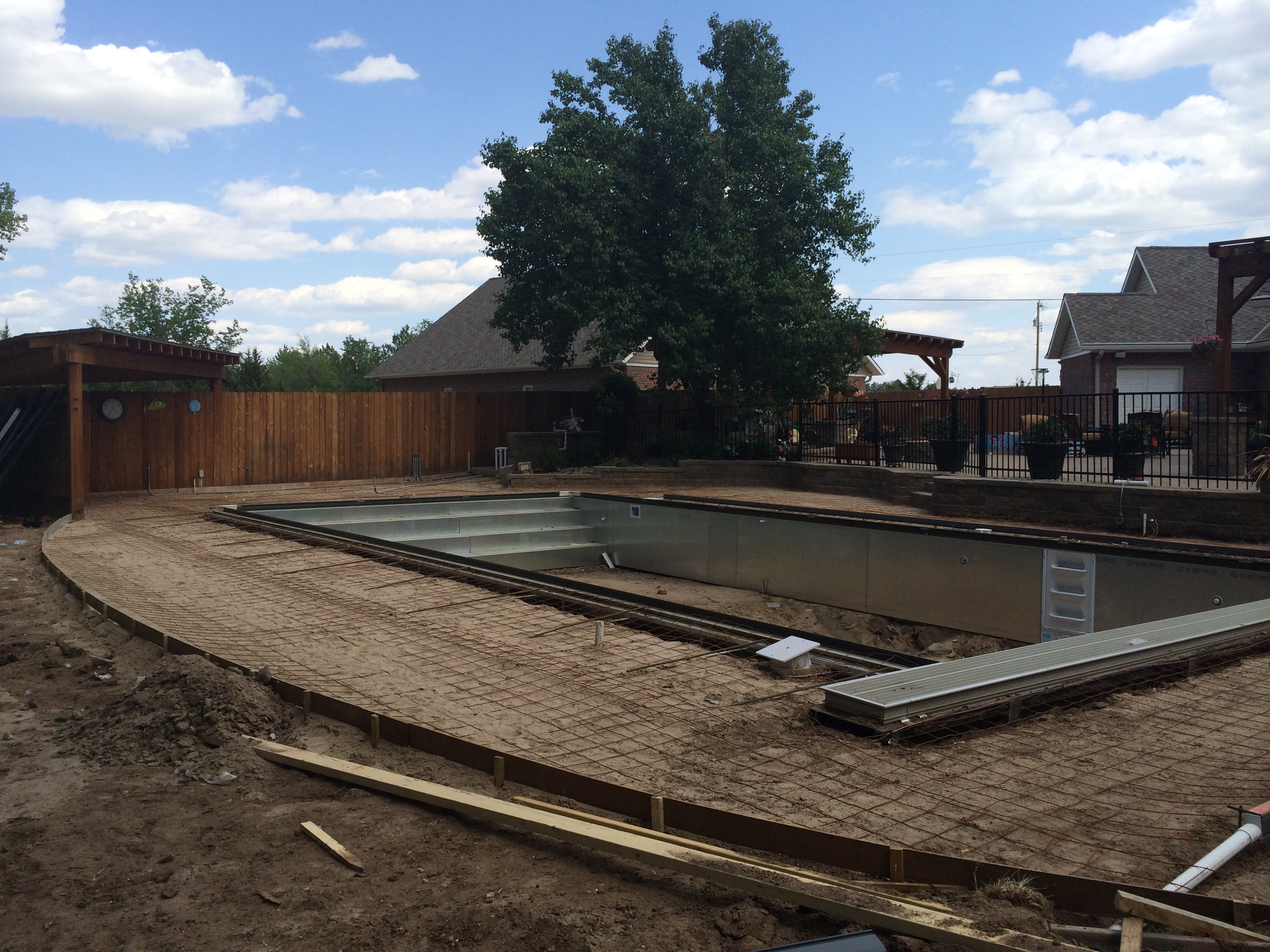 Swimming Pool Masonry : Swimming pool deck design installation stamped concrete