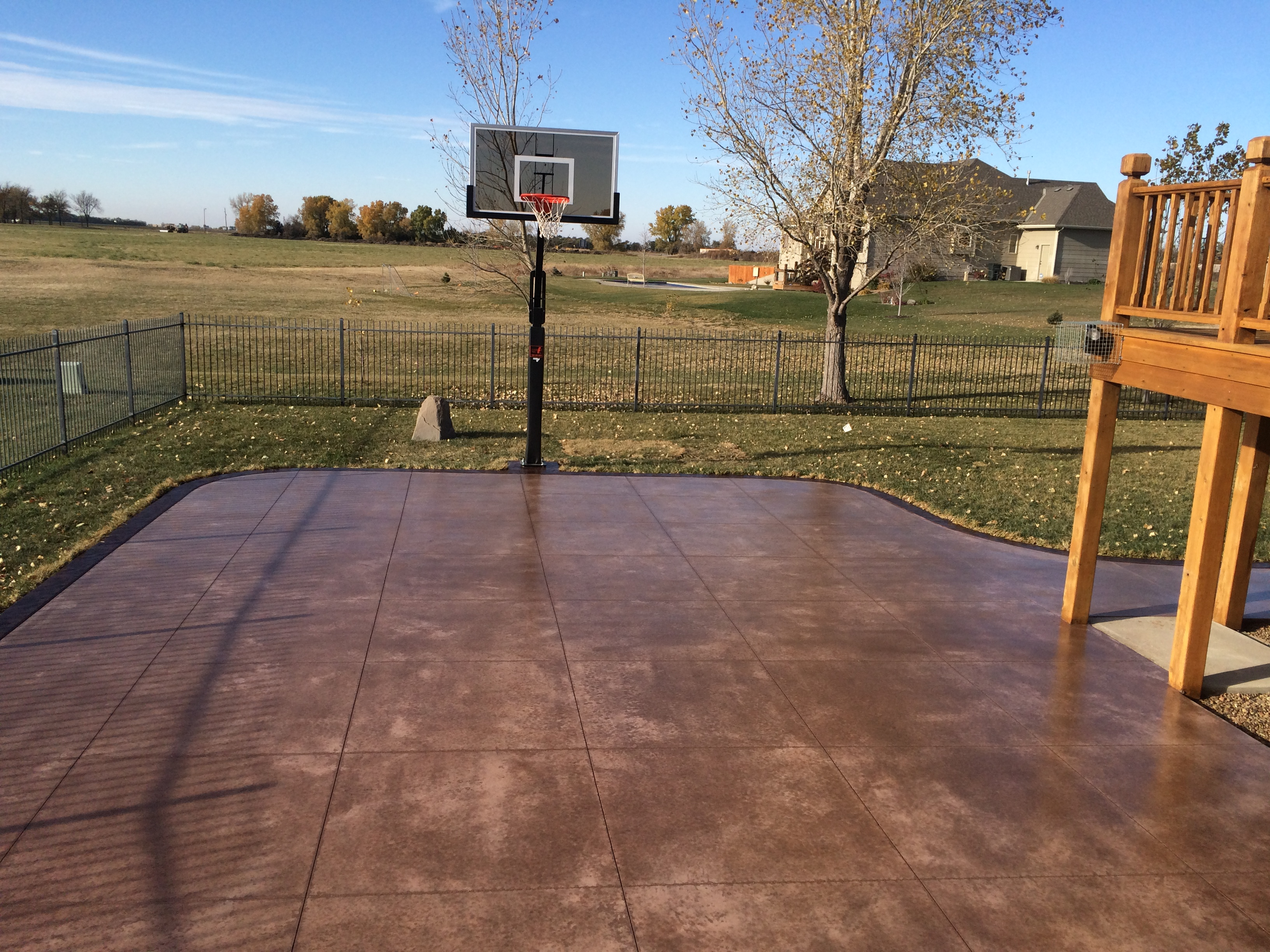 Basketball courts e j concrete and dirt work for How to build your own basketball court