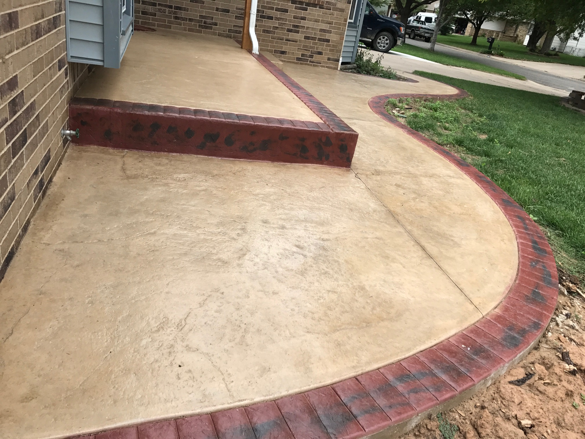 Front Yard Landscaping Ideas | Patio Design | Concrete on Backyard Ideas Concrete And Grass id=43406