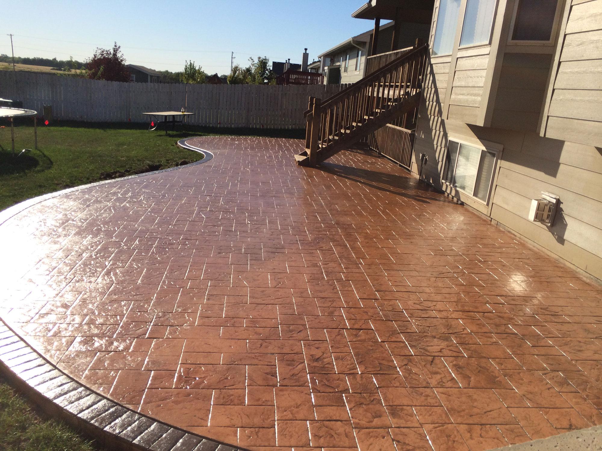 Stamped Concrete | Decorative Concrete | Colored Concrete ... on Cement Patio Ideas id=73297