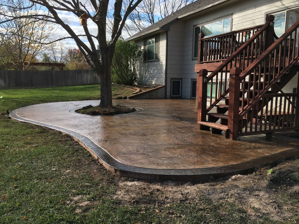 Concrete Patio Design - After