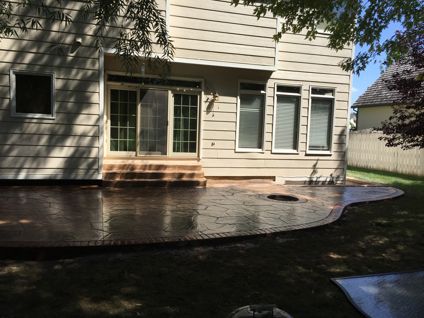easter patio stamped concrete designs preping patios construction our work stained and