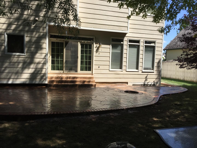 colored wichita concrete designs design stamped decorative patio services