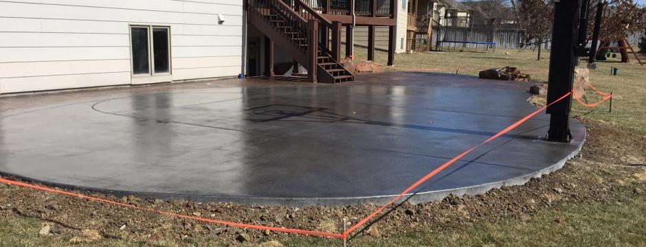 Concrete Basketball Courts E J