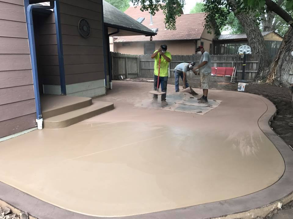 Superbe We Love To Answer Questions About Concrete, Dirt Or Concrete Backyard Patio  Designs. E U0026 J Concrete And Dirt Work Has Earned A Reputation For Our ...